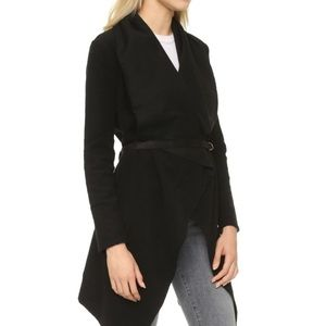 BB Dakota black wool sweater jacket size M.